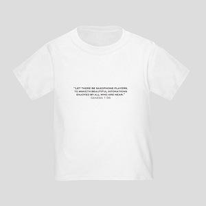 Saxophone / Genesis Toddler T-Shirt
