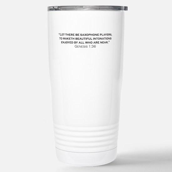 Saxophone / Genesis Stainless Steel Travel Mug