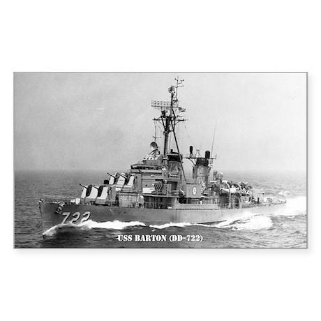 USS BARTON Sticker (Rectangle)
