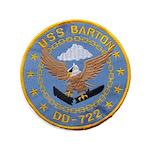 """USS BARTON 3.5"""" Button"""