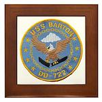USS BARTON Framed Tile