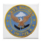 USS BARTON Tile Coaster