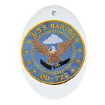 USS BARTON Ornament (Oval)