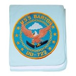 USS BARTON baby blanket