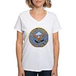 USS BARTON Women's V-Neck T-Shirt