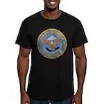 USS BARTON Men's Fitted T-Shirt (dark)