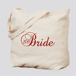 Bride 2011 in Red Tote Bag