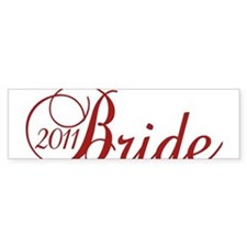 Bride 2011 in Red Sticker (Bumper)