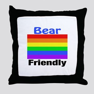 Bear Friendly Throw Pillow