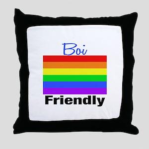 Boi Friendly Throw Pillow