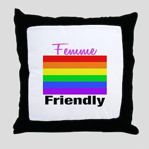 Femme Friendly Throw Pillow