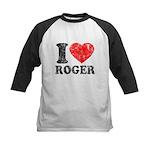 I (Heart) Roger Kids Baseball Jersey