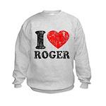 I (Heart) Roger Kids Sweatshirt