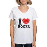 I (Heart) Roger Women's V-Neck T-Shirt