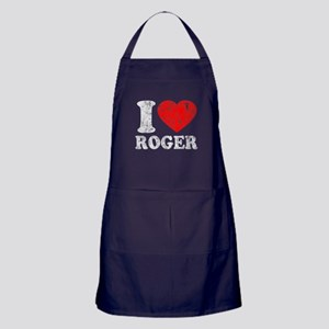 I (Heart) Roger Apron (dark)