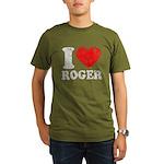 I (Heart) Roger Organic Men's T-Shirt (dark)