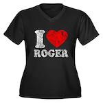 I (Heart) Roger Women's Plus Size V-Neck Dark T-Sh