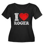 I (Heart) Roger Women's Plus Size Scoop Neck Dark