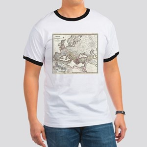 Vintage Map of The Roman Empire (1865) T-Shirt