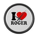 I (Heart) Roger Large Wall Clock