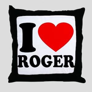 I (Heart) Roger Throw Pillow