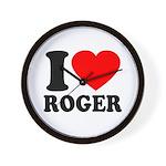 I (Heart) Roger Wall Clock