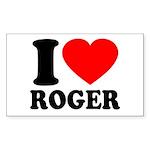I (Heart) Roger Sticker (Rectangle)
