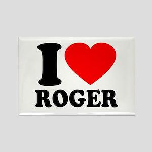 I (Heart) Roger Rectangle Magnet