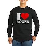 I (Heart) Roger Long Sleeve Dark T-Shirt