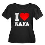 I (Heart) Rafa Women's Plus Size Scoop Neck Dark T