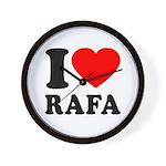 I (Heart) Rafa Wall Clock