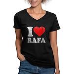 I (Heart) Rafa Women's V-Neck Dark T-Shirt