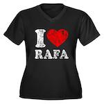 I (Heart) Rafa Women's Plus Size V-Neck Dark T-Shi