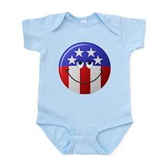 American Smiley Face Infant Bodysuit