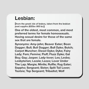 Lesbian Definition Mousepad