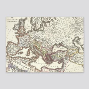 Vintage Map of The Roman Empire (18 5'x7'Area Rug