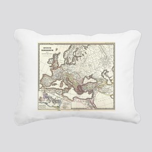 Vintage Map of The Roman Rectangular Canvas Pillow