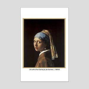 Vermeer Girl with Pearl Earring Mini Poster Print