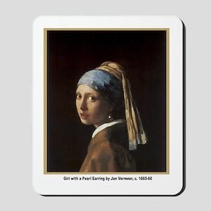 Vermeer Girl with Pearl Earring Mousepad