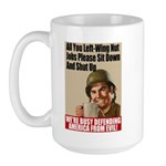 We're Defending America Large Mug