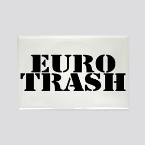Euro Trash Rectangle Magnet