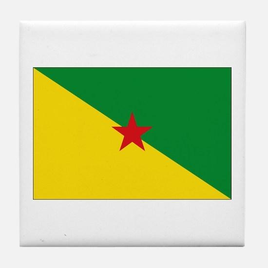 Guiana Flag Tile Coaster