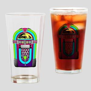 Vintage Rainbow Jukebox Drinking Glass