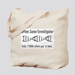 Crime Scene DNA Tote Bag
