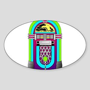 Vintage Rainbow Jukebox Sticker