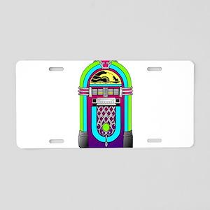 Vintage Rainbow Jukebox Aluminum License Plate