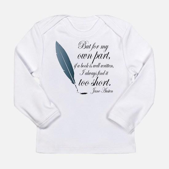 Jane Austen Book Quote Long Sleeve T-Shirt