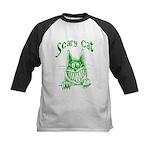 Scary Cat Kids Baseball Jersey