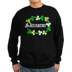 Accountant Shamrock Oval Sweatshirt (dark)