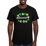 Accountant Shamrock Ov Men's Fitted T-Shirt (dark)